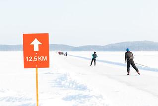 luistelurata 12,5 km kyltti Kuopion luonnonjäärata