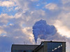 in the evening sky - (keinidyll) Tags: evening badreichenhall vapor sky building salina saltproduction