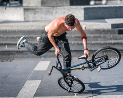 BMX bandit (jameswilkinson1) Tags: talent talented streetphotography citylife ferrybuilding embarcadero 85mm sonya9 sony nikesportswear nike urban streetphotographer street sanfrancisco bmx