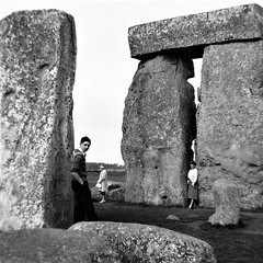 Stonehenge 1959. (Les Fisher) Tags: stonehenge monochrome history 1959 squareformat