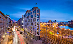 _MG_3127 - Stockholm flat house (AlexDROP) Tags: 2017 stockholm sweden travel architecture motion movement longexposure city urban canon6d ef16354lis best iconic skyline famous mustsee picturesque postcard europe color bluehour lake hdr