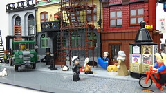 Small town scene (Kris_Kelvin) Tags: moc lego city town modular truck street architecture building