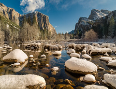 Cold Wet Rocks (mikeSF_) Tags: california yosemite ynp national park snow winter valleyview merced pentax dfa25 25mm