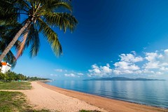 Beach Strand - Australia-3344 (islandfella) Tags: strand australia townsville queensland beach beachscape seascape coconuts palm morning serene magnetic island blue sky