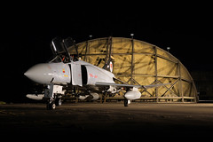 XT914 (gooey_lewy) Tags: time line events charter shoot raf royal air force cold war jet aircraft plane has hardened shelter wattisham suffolk wsh sation heritage station phantom xt914 mcdonnell douglas fgr2 56 74 squadron display armed night twilight dark