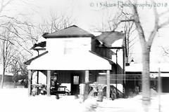 Shadowed (HSS) (13skies) Tags: hss blackandwhite bw house antiques parison parisrd tree building bright slidersunday slider effect topaz postprocessing happyslidersunday winter