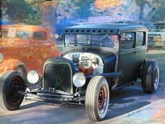 Sedan (novice09) Tags: backtothefifties carshow ford modela hotrod whitewalls dreamscope ipiccy