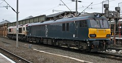 Giving Harry the runaround (TimboM) Tags: crewe 0z51 0k50 loughboroughbrush dyson class92 caledoniansleeper midnightteal caf dellner 92014 emilezola shunt creweholdingsidings class66 shed 66721 harrybeck tubemap emd lightengine wcml modifications cafmods mk5 gbrf gbrailfreight