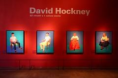 Looking at Hockney in Venice (Franco Coluzzi) Tags: davidhockney venezia venice capesaro exhibition 82ritrattie1naturamorta paintings portraits 2017