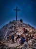 JOCHGRIMM WEISSHORN - Südtirol - Gipfelkreuz (PHOTOGRAPHY Toporowski) Tags: contrast landschaft blau clouds landscape himmel sky kontrast licht light blue eschweiler nrwnordrheinwestfalen deutschland deu