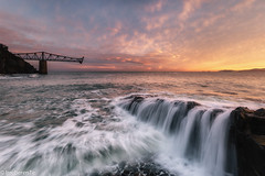 If it,s down, let it be slowly (IrreBerenTe Natalia Aguado) Tags: sunrise wave waterfall seascape cantabria castrourdiales mioño cargaderodedicído cargaderodemioño abandoned abandonedspain abandonedearth nataliaaguadoirreberente irreberente sea sky clouds ifitsdownletitbeslowly siamanecequesealento water beach pared ruinas muro stones cargaderodemineral cantilever hierro iron marcantabrico longexposure explore