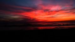 Aan Zee IV (MrTheEdge7) Tags: noordwijk netherlands noordwijkaanzee nederlands holland zuidholland sea ocean northsea beach sunset bloodredsky horizon water