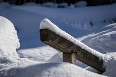 """no way """"explore 18-01-2018"""" (husiphoto) Tags: winter snow treppe nikkor 105mm d750 stairs geländer railing white weiss holz wood weg way verschneit snowy"""