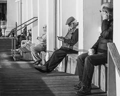 Sun Trap #StPhotographia (raymorgan4) Tags: sun trap sunny sunshine coffee relax texting sitting view penarth pier pavilion promenade south wales sony ilce6000 a6000 stphotographia