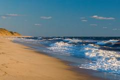 Massachusetts, Eastham, Cape Cod National Seashore (nicolette_niemiec) Tags: atlantic atlanticocean beach capecodnationalseashore eastham massachusetts photography surf atlanticcoast bluesky coastline dunes foam sand shoreline spray traveldestination waves