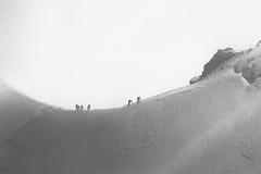 Sisyphus (hannnwang) Tags: aiguille du midi alps mountain climbers trekking adventure journey philosophy blackandwhite bw sisyphus nature hills snow ice