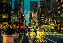 Midtown night (Arutemu) Tags: 40mm a7rii america american ny nyc newyork nokton sony techartlmea7afadapter us usa vogtlandernoktonclassic40mmf14 voigtlander city f14 manualfocus mirrorless urban cityscape citylights unitedstates metropolis manhattan night nighttime nightscape nightshot nuevayork newyorkcity sonya7rii sonya7rmarkii scene street evening ilcea7rii アメリカ 米国 美国 ニューヨーク ニューヨーク市 紐育 都市 都市の景観 都市景観 都会 大都会 マンハッタン 町 街 街道 街並み 夜の街 光景 光 夜光 夜景 夕景 夕暮れ 夕べ 夕日 夕方 夜 風景 見晴らし 曼哈頓