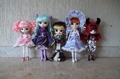 All my girls 2017 (Sin.da.a.ta.ri.en) Tags: pullip asuka langley soryu dal lipoca byul pulia alice du jardin mint magical pinkchan jun planning groove fashion doll