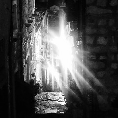 (bobbat) Tags: street alley old town night light dubrovnik