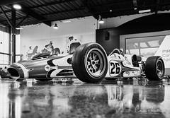 Lola T90 (Chris Parmeter Photography) Tags: 1966 lola t90 indy car world speed museum canon 5dsr 24105mm bw black white reflection