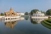 Aisawan Thiphya-At Pavilion and Tevaraj-Kanlai Gate (Erik Strahm) Tags: reflection seasia2017 lake palace bangpain ayutthaya thailand th