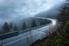 Storm Rider (R. Keith Clontz) Tags: linncoveviaduct blueridgeparkway stormy cloudy moody foggy northcarolina grandfathermountain rainyday rkeithclontz light stream lightstreaks longexposure