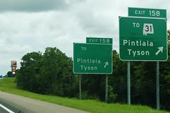 Int65sRoad-Exit158-LowndesCR6-ToAL31error (formulanone) Tags: i65 interstate65 errorsign signerror al31 31 us31 pintlala tyson alabama exit158