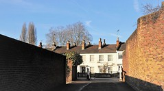 """Just A Couple Of Plain Brick Walls"" (standhisround) Tags: wednesdaywalls wall walls houses buildings richmonduponthames london greaterlondon england uk hww shadows architecture"