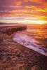 Fire at The Cobb (Rich Walker75) Tags: thecobb lymeregis dorset sunrise seascape landscape landscapes landscapephotography landmark landmarks sky cloud colour sea ocean coast coastline canon eos100d efs1585mmisusm