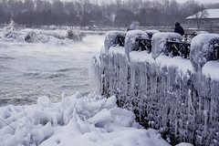 Frozen Falls (PDPhotography) Tags: ifttt 500px frozen winter snow ice frost snowing icicle blizzard snowdrift cold temperature water niagara sony warm clothing winterdienst