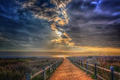 Path to Glory (Michael F. Nyiri) Tags: pointvicente pacificocean sunset clouds cloudscapes fence palosverdespeninsulacalifornia southerncalifornia