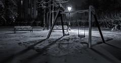 SnowySwing (FRSK Photography) Tags: snow neige night swing balançoire bw noirblanc hdr frsk paris french capital parisian parisien europe winter hiver 7dmarkii 1740 longexposure expolongue