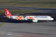 TC-JRO Turkish Airlines A320 Euro League livery at BRU (Dutchairplaneshooter) Tags: