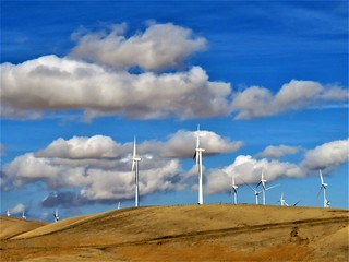 clouds and windmills. California