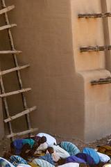 Devotees praying outside abobe mud Grand Mosque - Djenne, Mali (Phil Marion (173 million views - THANKS)) Tags: mali africa sahel sahara tuareg muslim islam travel adobe philmarion philippemarion explored explore phil marion canon5diii 5d3 canon toronto canada candid architecture street portrait landscape wildlife nature bird urban flowers macro insect sony nikon fuji longexposure ontario upskirt