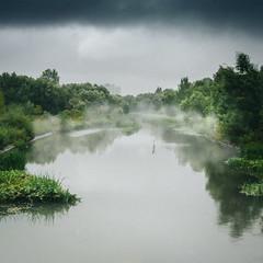 Дымка / Haze (Yuri Balanov) Tags: haze russia summer autumn pentax pentaxk20d green clouds