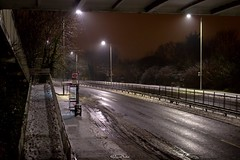 A41 Edgware Way (snow), Edgware (LFaurePhotos) Tags: londonboroughofbarnet londonbynight snow streetsoflondon a41 edgware lfaurephotos