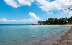 Quiet (TotoFABRE) Tags: beach thailand kohsamui koh samui island sea gulf sand water fujifilm fuji xm1 2018 villa bay sky blue ciel