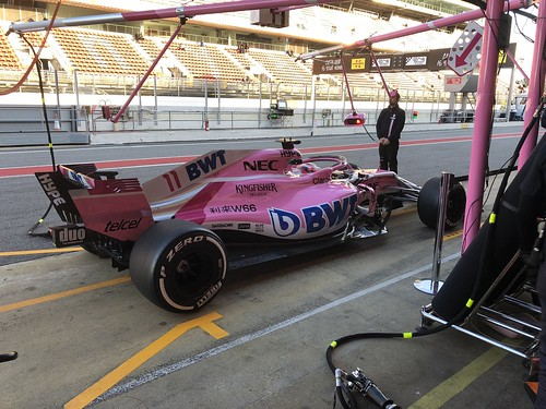 Sergio Perez during Formula One Winter Testing 2018