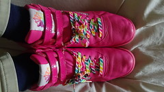 Reebok Freestyle Hi 25th Anniversary Rainbow Neon Pink (perry515) Tags: reebok freestyle free style hi high 25th anniversary rbk fs rainbow rain bow reignbow reign neon pink classic aerobic shoe boot 1980s