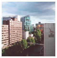 Irwell View, Salford/Manchester (Gracieben) Tags: hasselblad 203fe distagon50cfi kodakportra400 nikoncoolscan9000ed film mediumformat 6x6 analogue irwell salford manchester