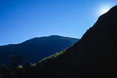Crawford Notch State Park, New Hampshire: Cloudless (rocinante11) Tags: newhampshire crawfordnotch newengland sky blue film slidefilm slide filmcamera