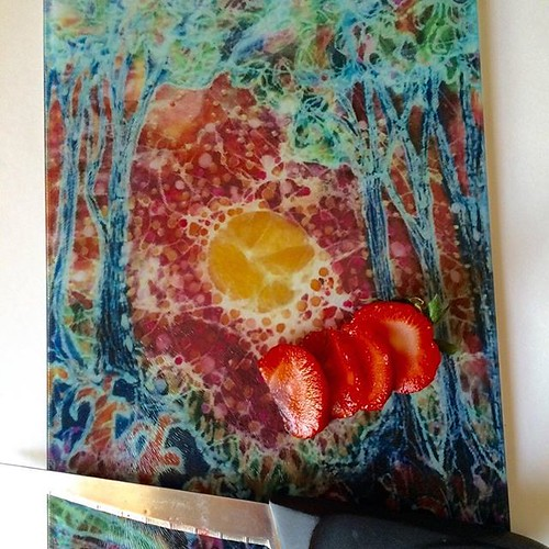 Excited to share the latest addition to my #etsy shop: Cutting Board - Woodlands Awaken - from original batik with the wax - by Carol - 8