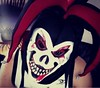 Crazy Clown Mask (Kingz91) Tags: scary clown mask me eyes stare looking evil demon red white