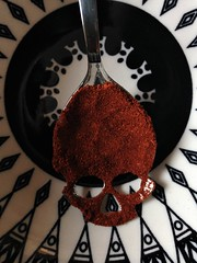 Spices (Espykrelle) Tags: 7dwf spices épices theme spoon cuilliere explore exploration red rouge paprika skull crane crazytuesdaytheme
