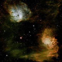 Flame nebula (astrobiscuit) Tags: astronomy astrophotography lightpollution nebula atik narrowband takahashi space