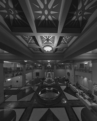 Harold Washington Library (Jovan Jimenez) Tags: sony a6500 12mm zeiss touit interior distagon touit2812 alpha 6500 ilce hdr black white gray monochrome pano autopano giga pixel pro autopanopro kolor chicago architecture harold washington library carlzeiss