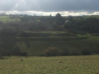 Englishcombe castle shadows