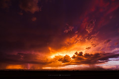 The Ocean of Fire (Mike Olbinski Photography) Tags: 20150812 canon5dmarkii rokinon14mm28 arizona dust farms lightning monsoon rain stormchasing sunsets