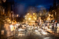 After the Market, French Row v4 (RCARCARCA) Tags: blur market cathedral photoartistry traders people canon abbey orange lights blue bluehour stalbans road 70200l 5diii jackwills stalls yellow nero evening building